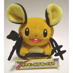 Pokemon 2013 Dedenne Takara Tomy Medium Size Plush Toy