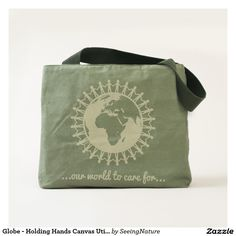 Customizable Canvas Utility Tote made by UBUNTU Life. Create Your Own Canvas, Utility Tote, Black Friday, Holding Hands, Globe, Tote Bag, Design, Hand In Hand, Balloon