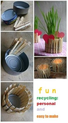 Recycle Ideas... Fun for an outdoor party.