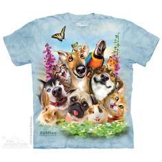 Pet Selfie T-Shirt by Howard Robinson | TheMountain.com