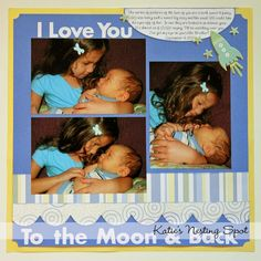 Baby Scrapbooking Ideas | Katie's Nesting Spot: Baby Boy Scrapbook Pages: Holding Baby Brother