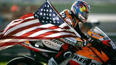 Nicky Hayden obituary - Former MotoGP champion considered one of the great motorcycle racers of the modern era . Flat Track Motorcycle, Kids Motorcycle, Motorcycle Racers, Dirt Track Racing, Road Racing, Auto Racing, Motorcycle Quotes, Motogp, Gp Moto