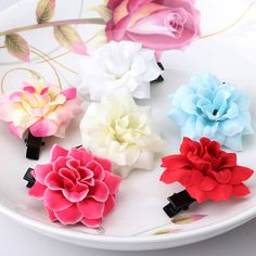 New Bohemia Style Peony Flowers Hair Clips Brooch Hairpins For Women Hair Accessories Beach 6 Colors Floral Barrettes  EUR 0.36  Meer informatie  http://naaar.nl/25zlKU7 #aliexpress