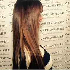 Extecion bellezza capelli castani schiariti a mano libera capelvenere