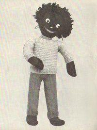 Gollywogg - vintage toy knitting pattern