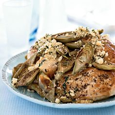 Oven-Roasted Chicken Breasts with Artichokes and Toasted Breadcrumbs Recipes