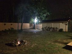 The Damyang House.  Campfire and bikes.