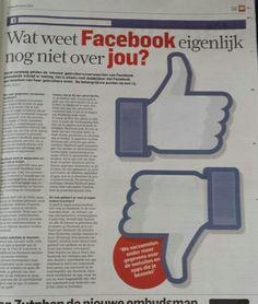Wat weet facebook eigenlijk nog niet ovet je. Algemeendagblad 30 jan 2015