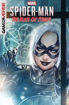 Marvel's Spider-Man: The Black Cat Strikes variant cover by Sana Takeda * Marvel Comic Books, Marvel Art, Marvel Characters, Marvel Movies, Comic Books Art, Marvel Girls, Book Art, Spiderman Black Cat, Black Cat Marvel
