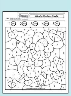 Farm Color By Number Worksheets Also Easy Christmas Color By Number ...