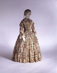 Morning dress Date: ca. 1844 Culture: British Medium: wool Dimensions: Length at CB: 55 1/4 in. (140.3 cm) Credit Line: Purchase, Marcia Sand Bequest, in memory of her daughter, Tiger (Joan) Morse, 1979