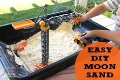 Cheap & Easy DIY Homemade Moon Sand via Mom's Crafty Space