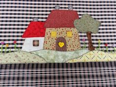 Fabric Toys, Fabric Houses, Wool Applique, Applique Quilts, Sewing Pillows, Twinkle Twinkle, Patches, Kids Rugs, Crafts