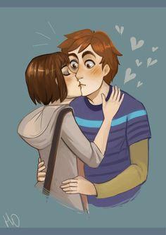 i really love this couple, life is strange, love, kiss, max caulfield, warren graham