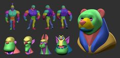 3d Model Character, Game Character Design, Character Modeling, Character Concept, 3d Modeling, Character Art, Zbrush Tutorial, Sculpting Tutorials, Drawing Tutorials