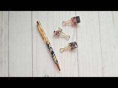How To | The Planner Society Elastic Pen Loop Clip - YouTube