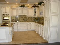 How to Paint Antique White Kitchen Cabinets | Glazed Kitchen Cabinets: DIY Antique Painting Kitchen Cabinets