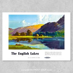 Railway Posters, Travel Posters, Vintage Posters, Poster Prints, British, English, Mountains, Retro, Poster Vintage