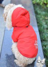 Nuevo 2015 Classic ropa para perros de dos lados usan cerdas suaves copo de nieve caliente ropa para mascotas abrigo rompevientos para perros pequeños venta al por mayor(China (Mainland))