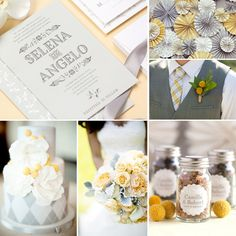 Miran Silk Wedding Inspiration - Gray and Yellow