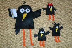 DIY manualitat titelles de mà i de dit ocells - DIY manualidad títeres de mano y dedos de pájaros