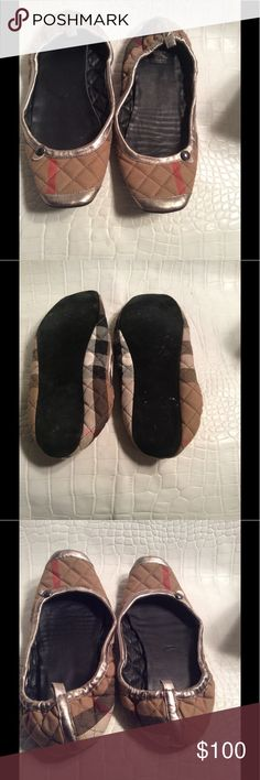 Burberry haymarket slippers Preloved worn once or twice,good condition Burberry Shoes Slippers