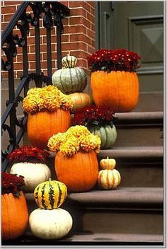Pumpkins and mums make the perfect fall wedding decor, and your guests can take them home to decorate their houses too!
