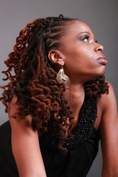 Like the color in the locs… | Black Women Natural Hairstyles