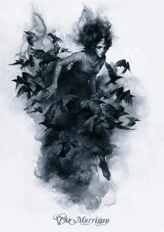 The Morrigan is a figure from Irish mythology. She is associated with sovereignty, prophecy, war, and death on the battlefield. She sometimes appears in. The Morrigan Wiccan, Witchcraft, Dark Fantasy, Fantasy Art, The Wicked The Divine, Irish Mythology, Celtic Goddess, Goddess Warrior, Arte Obscura