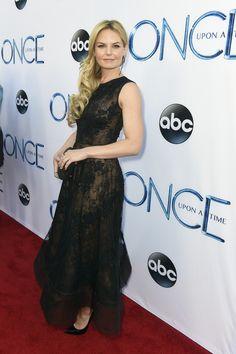 #OnceUponATime.  Fabulous black lace dress.  Actress Jennifer Morrison plays Emma Swan on OUAT.