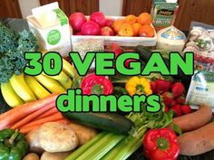 What Vegan Kids Eat: 30 VEGAN Dinners. Some crockpot and freezer meals. All super easy.