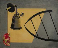 """Joan Miró. Still Life II. Montroig and Paris 1922-23. Oil on canvas. 15 x 18"""" (38.1 x 45.7 cm). Purchase. 12.1939. © 2016 Successió  Miró / Artists Rights Society (ARS), New York / ADAGP, Paris. Painting and Sculpture Seriez--vous capable de trouvez les objets représentés? Ha ha..."""