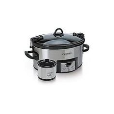 Crock Pot 6 Quart Cook & Carry Slow Cooker with Little Dipper Warmer 6 Quart Slow Cooker, Crock Pot Slow Cooker, Crock Pot Cooking, Slow Cooker Recipes, Crockpot Recipes, Cooking Tips, Crock Pots, Dinner Crockpot, Chicken Stuffing Casserole