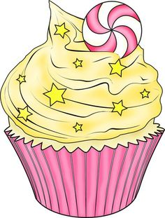 Photo Food Clipart, Cute Clipart, Cupcake Clipart, Diy Craft Projects, Fun Crafts, Cupcake Torte, Decoupage, Cupcake Collection, Cupcake Pictures
