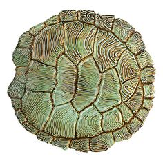 """Tortoise Shell Small Plate, 10x9-3/4"""" could be used as a dinner plate... very cool, very unusual.  From Vietri"""