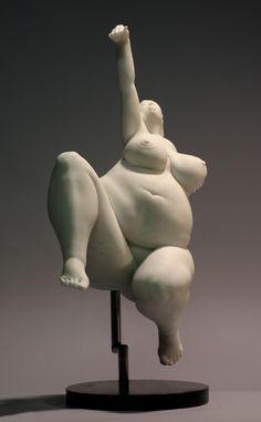 Poised by  Béla Bácsi. Italian Marble, 2005.