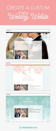 How To Set Up Your Wedding Website Pinterest And Weddings