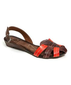 Look at this #zulilyfind! Brown Cinderella Leather Sandal by French Blu #zulilyfinds