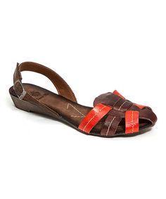 Look at this #zulilyfind! Brown Cinderella Leather Sandal by French Blu #zulilyfinds