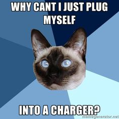 Why can't I just plug myself into a charger?