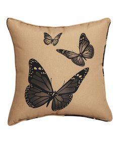 Another great find on #zulily! Butterflies Burlap Throw Pillow, $20 !!  #zulilyfinds