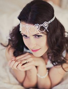A 1920s-inspired headpiece and 49 more unique wedding hair accessories from Etsy.