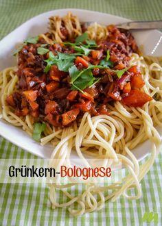 Grünkern Bolognese Pasta