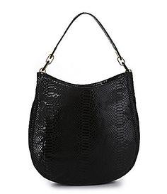 f9cd3f46c8b483 MICHAEL Michael Kors Patent Python Fulton Shoulder Tote Bag #Dillards