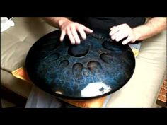 """Zen Tambour #220, Scale = D Akebono, Size = 18"""" - 11 note, Blue iridescent Patina http//:www.exoticvessels.com/zentambour"""