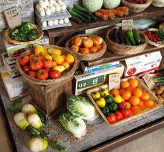 Vintage Street Shop-The alley Vegetable by DollhouseAra on Etsy