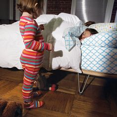 How to (finally) get your kid to sleep in her own bed. #parenting