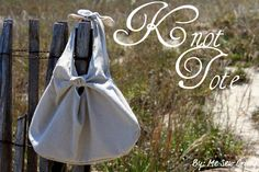 Knot Tote {free} tutorial.   The directions say it can be made in less than 30 minutes.