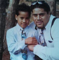 Solofa Fatu (Rikishi Phatu) & his son Jonathan (Jimmy Uso)