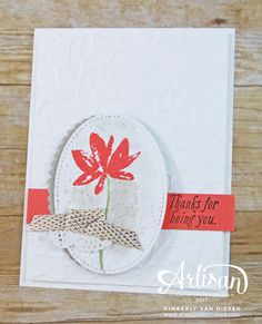 Create a beautiful floral card using the Avant Garden stamp set and a few simple coordinating supplies from Sale-a-Bration.